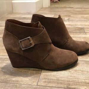 Lucky Brand Brown Wedge Bootie
